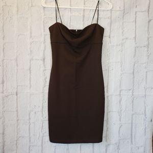MARK WONG NARK Brown Bodycon Dress